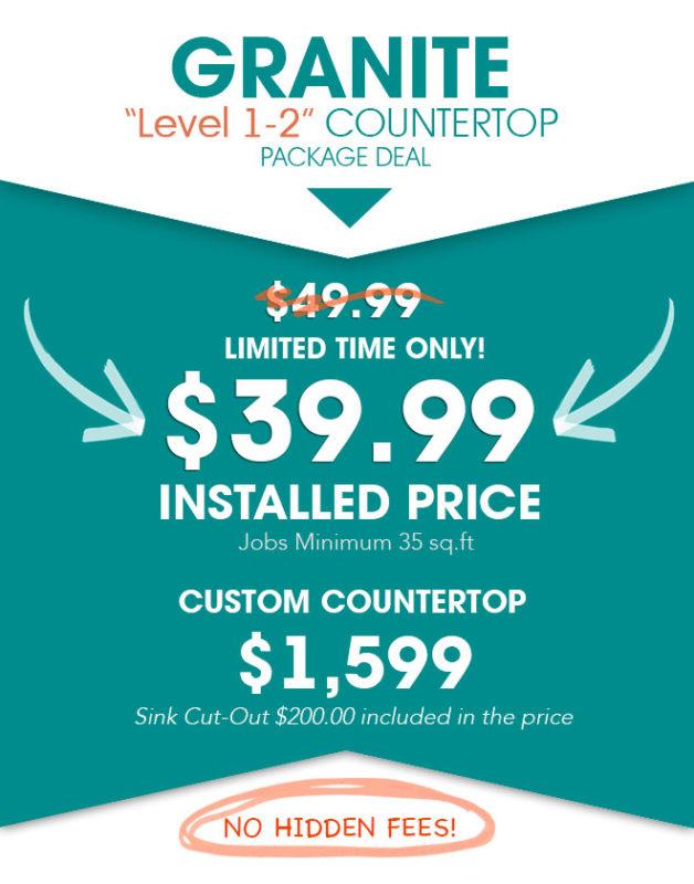 $34 99 GRANITE NEW JERSEY Countertop SALE | 50% Off Granite Tops
